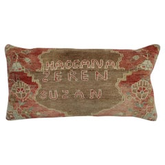 Large Floor Size Rustic Geometric Dowry Pillow