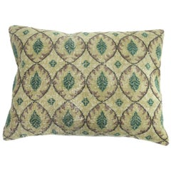 Large Floor Size Vintage Beige Green Muave Accent Turkish Rug Pillow