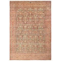 "Large Floral Design Antique Persian Khorassan Rug. Size: 13' 3"" x 19' 2"""