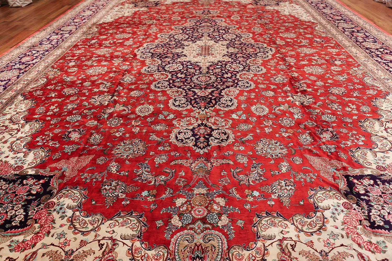 Vintage Persian Silk Qum Rug Size