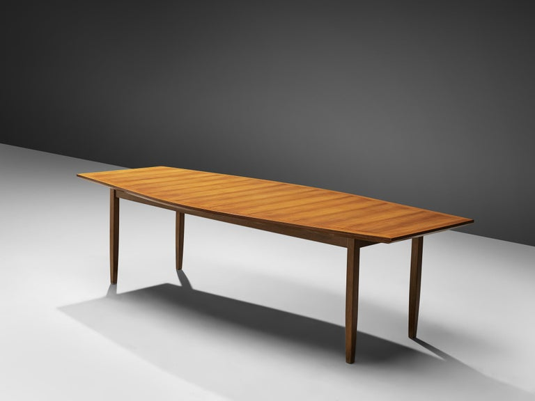 American Large Florence Knoll Boat Shaped Dining Table For Sale
