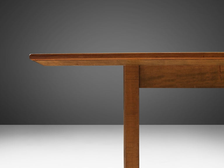 Large Florence Knoll Boat Shaped Dining Table For Sale 2