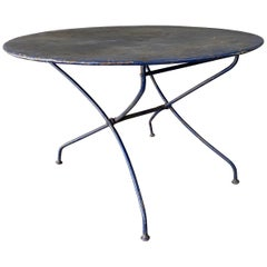 Large Folding Painted Iron French Garden Table