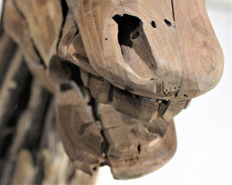Large Folk Art Driftwood Horse Head Sculpture For Sale 1