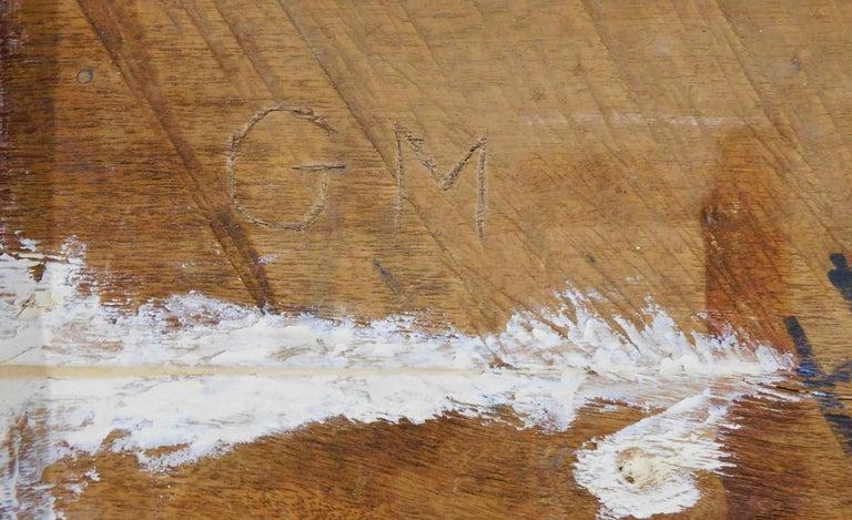 Large Folk Art Hand Carved Wood American Dollar Bill Sign For Sale 7
