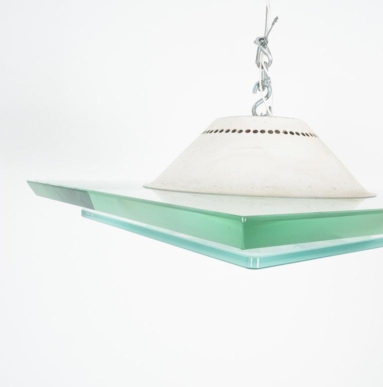 Large Fontana Arte Flush Mount Model, 1990 For Sale 2