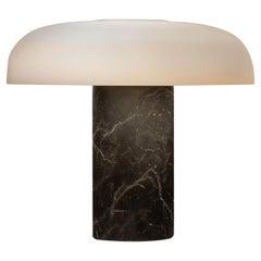 Large Fontana Arte 'Tropico' Black Marble & Glass Table Lamp by Studio Buratti