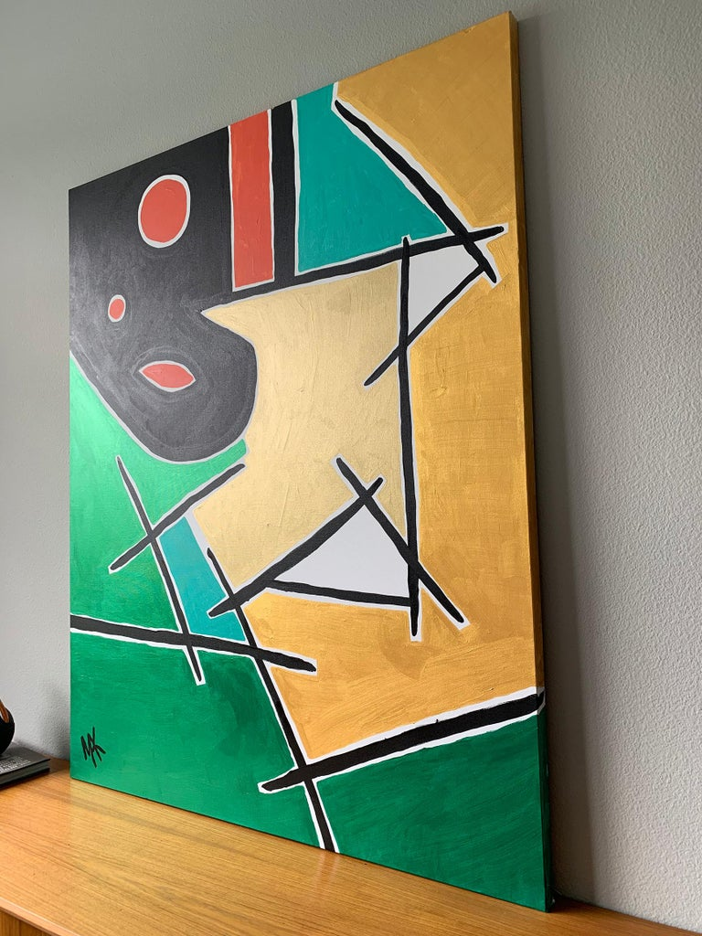 Large Format Modernist Acrylic on Canvas, Mak, 2019 In Good Condition For Sale In Las Vegas, NV