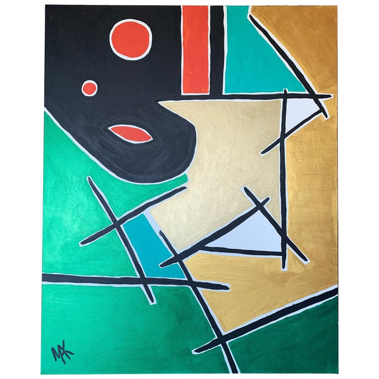Large Format Modernist Acrylic on Canvas, Mak, 2019 For Sale