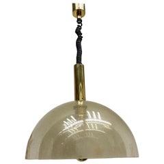 Large Four-Layer Murano Pulegoso Glass Pendant Lamp by Carlo Nason for Mazzega L