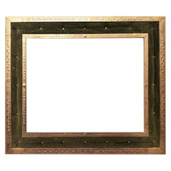 Original Large Frame Brass and Velved White Capitone, Victorian