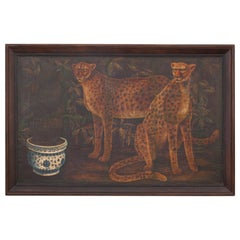 Large Framed Image of Two Cheetahs