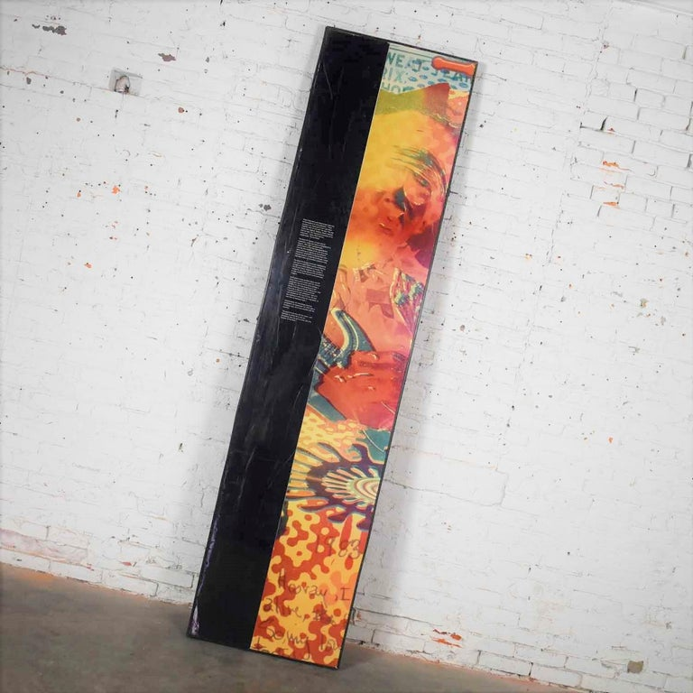 Large Framed Jimi Hendrix Panel Attributed to Jimi Hendrix Traveling Exhibit For Sale 5
