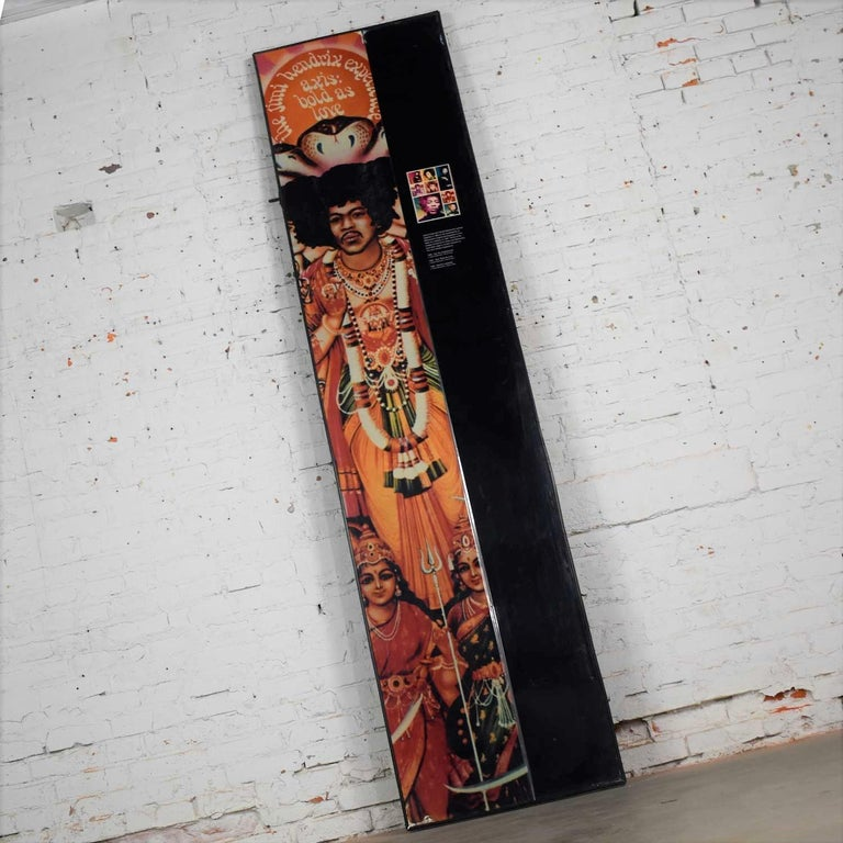 Modern Large Framed Jimi Hendrix Panel Attributed to Jimi Hendrix Traveling Exhibit For Sale