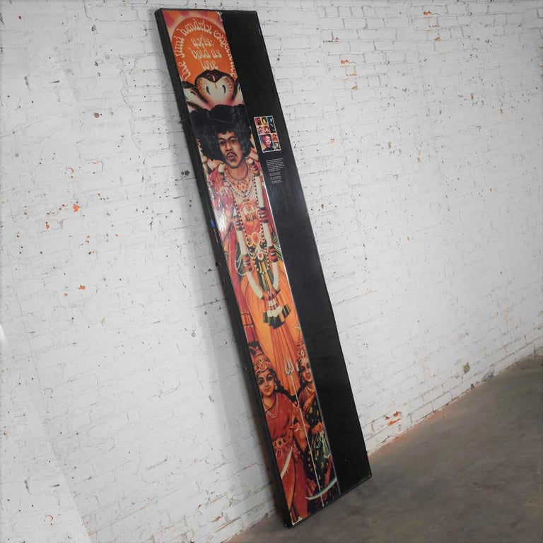 Large Framed Jimi Hendrix Panel Attributed to Jimi Hendrix Traveling Exhibit In Good Condition For Sale In Topeka, KS