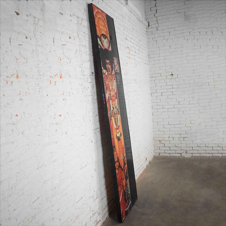 20th Century Large Framed Jimi Hendrix Panel Attributed to Jimi Hendrix Traveling Exhibit For Sale