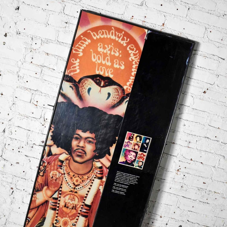 Large Framed Jimi Hendrix Panel Attributed to Jimi Hendrix Traveling Exhibit For Sale 2