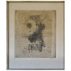 Large Framed Lithograph by Tony Friedlaender