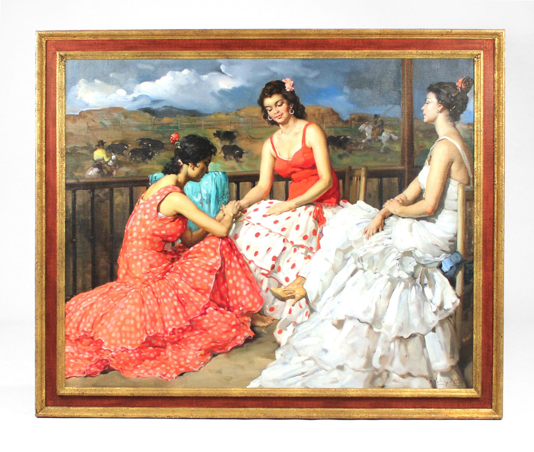 Large Francisco Rodriguez San Clemente Oil Painting