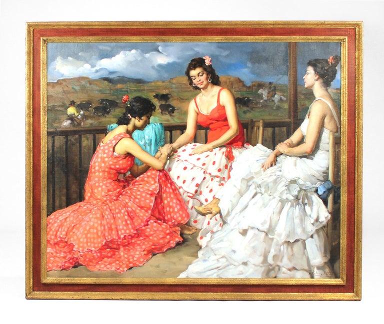 Large Francisco Rodriguez San Clemente Oil Painting For Sale
