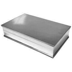 Large Fratelli Cacchione Sterling Silver Box Italy, circa 1960