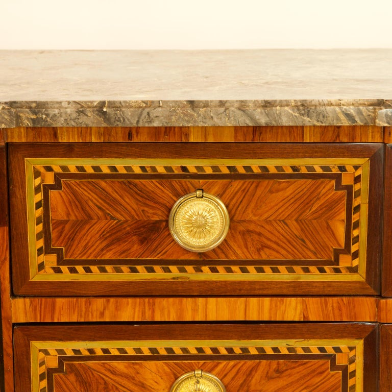 Large French 18th Century Louis XVI Marquetry Commode or Chest of Drawers For Sale 4