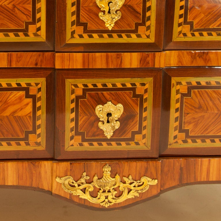 Large French 18th Century Louis XVI Marquetry Commode or Chest of Drawers For Sale 6