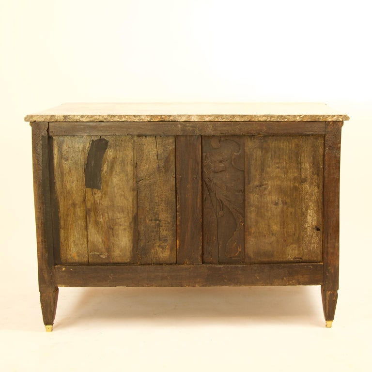 Bronze Large French 18th Century Louis XVI Marquetry Commode or Chest of Drawers For Sale