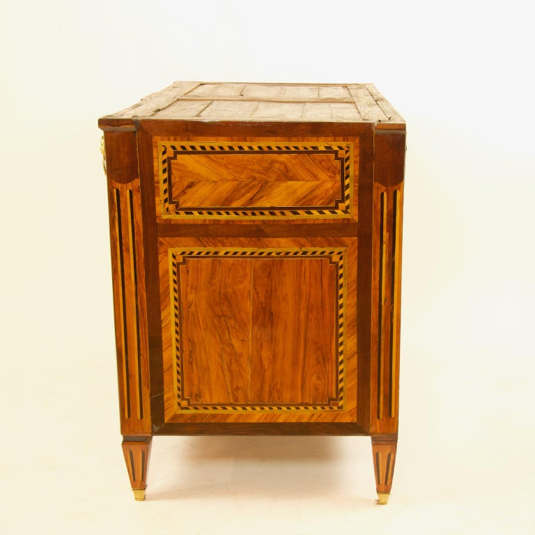 Large French 18th Century Louis XVI Marquetry Commode or Chest of Drawers For Sale 1
