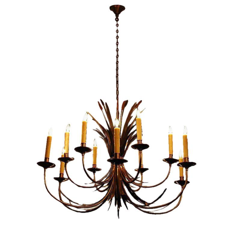Large French 1960s Chandelier by Maison Charles, Paris