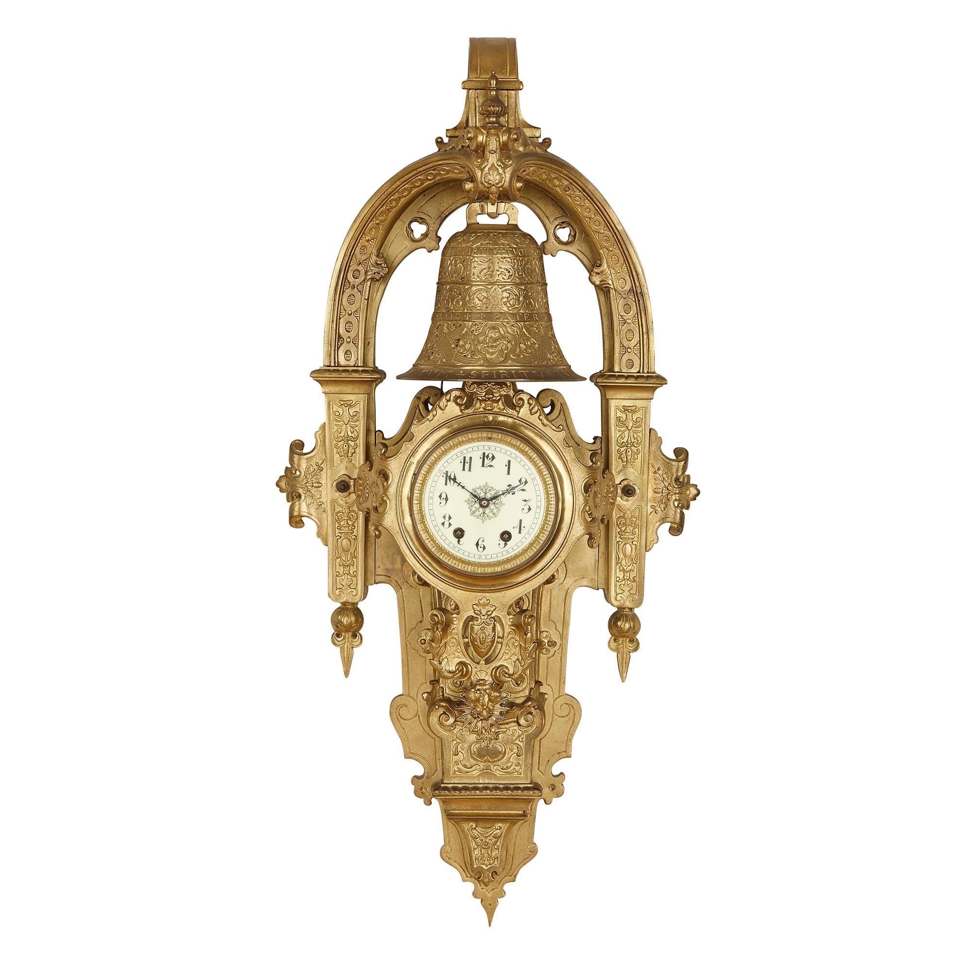 Gold Large Wall Clocks 8 For Sale On 1stdibs