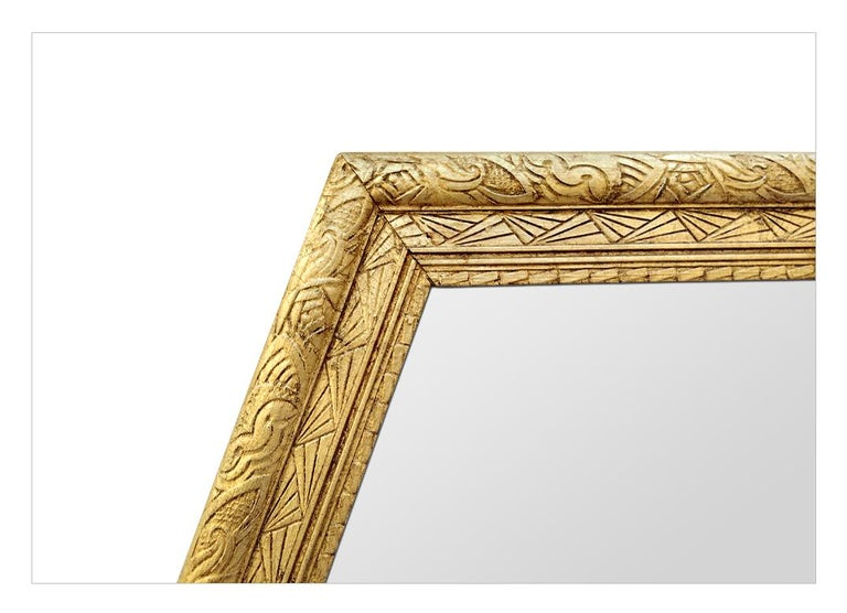 Large French Antique Octagonal Mirror, circa 1930 In Good Condition For Sale In Paris, FR