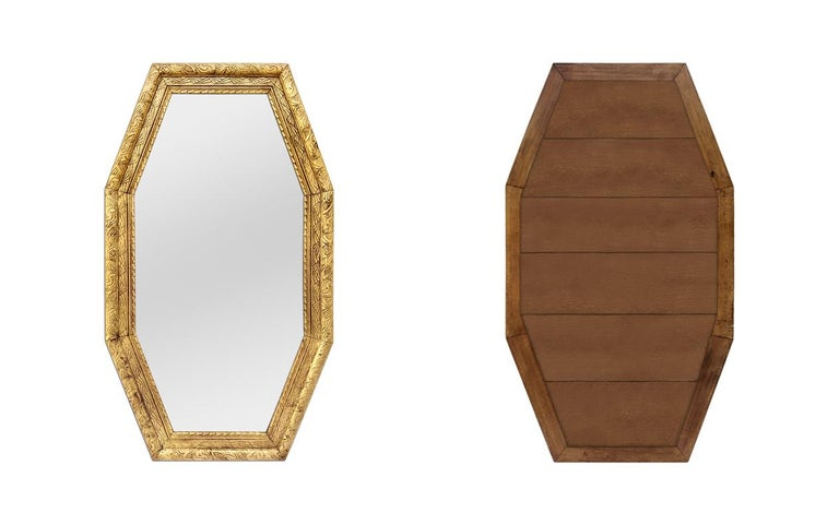 Mid-20th Century Large French Antique Octagonal Mirror, circa 1930 For Sale