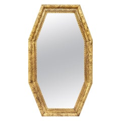 Large French Antique Octagonal Mirror, circa 1930