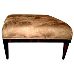 Large French Art Deco Bench or Ottoman, Jules Leleu Inspired
