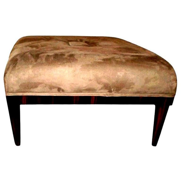 Large French Art Deco Bench or Ottoman, Jules Leleu Inspired For Sale