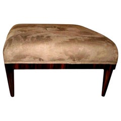 Large French Art Deco Jules Leleu Inspired Square Ottoman