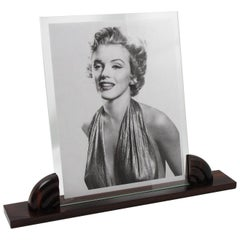 Large French Art Deco Picture Photo Frame Carved Macassar Wood