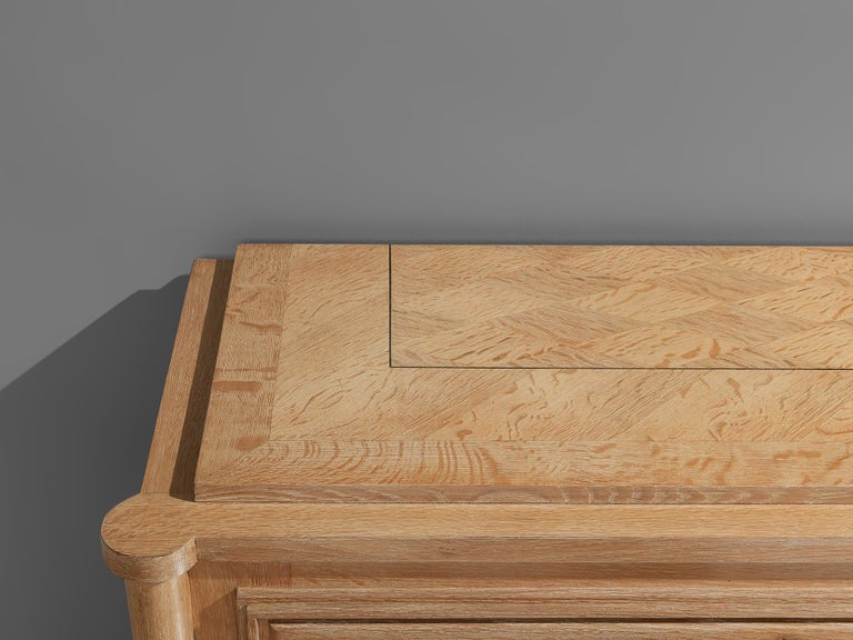 Large French Art Deco Sideboard in Oak For Sale 5