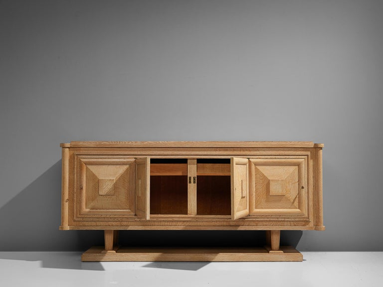 Mid-19th Century Large French Art Deco Sideboard in Oak For Sale