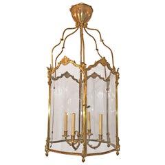 Large French Bronze Hall Lantern