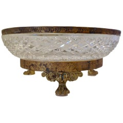 Large French Bronze Mounted Bowl