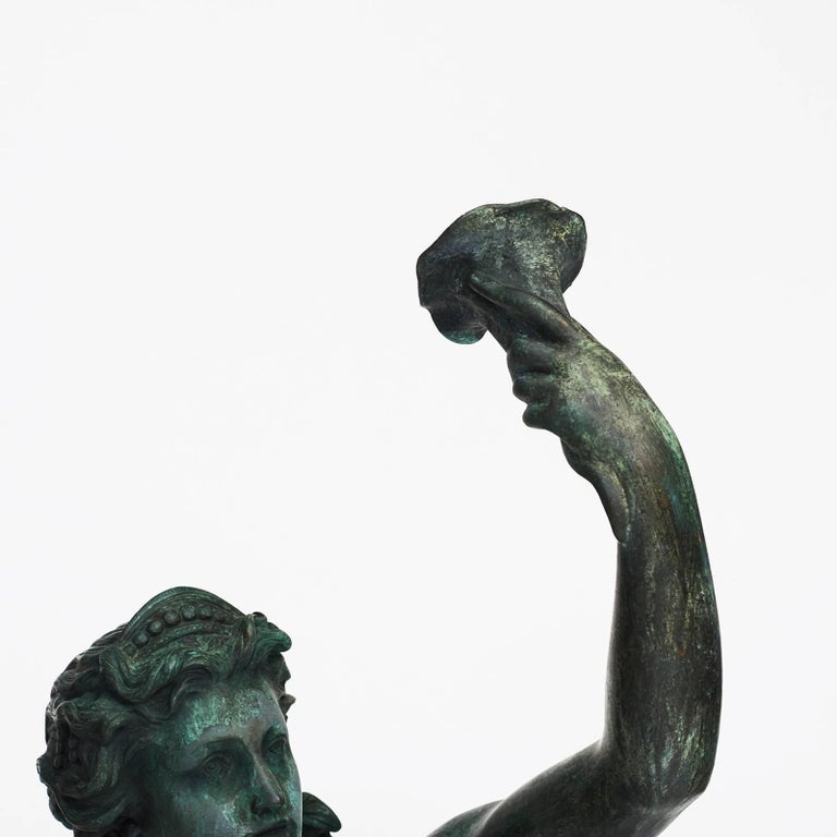 19th Century Large French Bronze Nymph, Late 19th-Early 20th Century For Sale