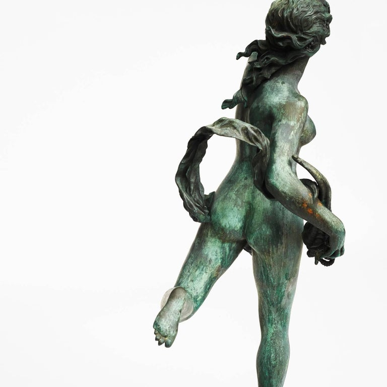 Large French Bronze Nymph, Late 19th-Early 20th Century For Sale 3
