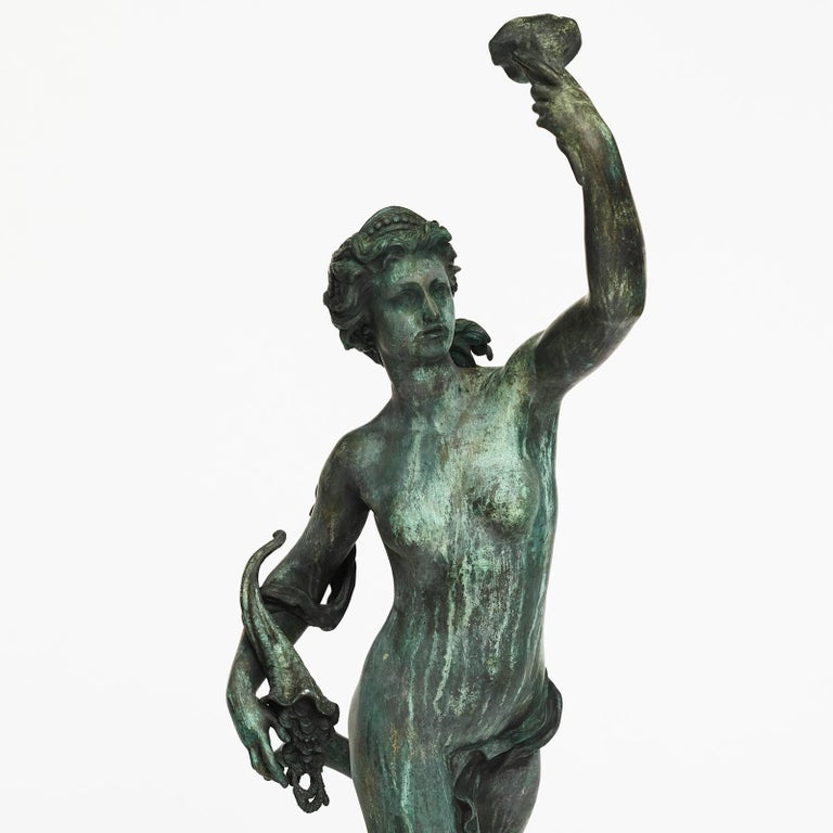 Large French Bronze Nymph, Late 19th-Early 20th Century For Sale 4