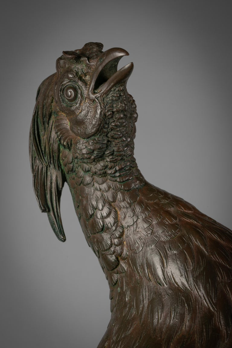 Large French Bronze Pheasant, by Ferdinand Pautrot For Sale 2