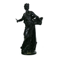 "Large French Bronze Sculpture of ""La Science"" by Edouard Drouot"