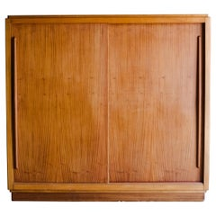 Large French Cabinet with Sliding Doors from France, Circa 1960