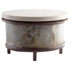 Large French Cast Iron Industrial Hub as Coffee Table