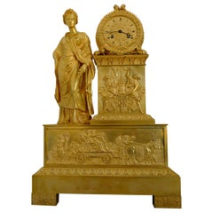 Large French Charles X Period Ormolu Clock Representing Ceres
